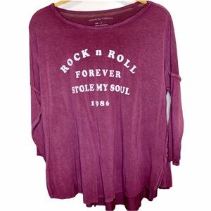 Grayson/Threads Rock n Roll Forever Shirt Large